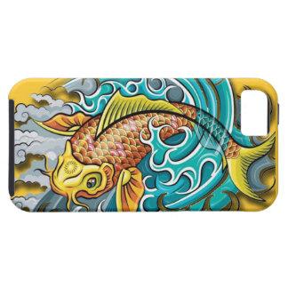 Arte de los pescados de Koi Funda Para iPhone 5 Tough