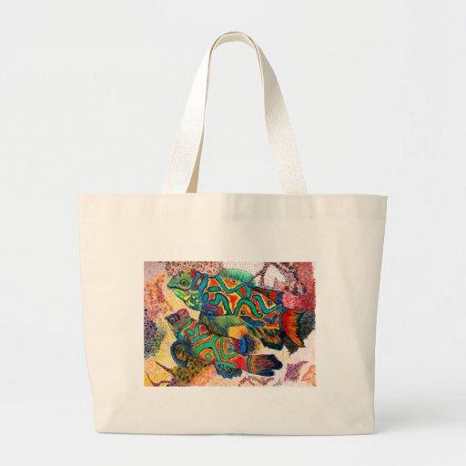 Arte de los pescados del mandarín bolsa