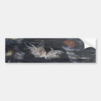 Arte de los pescados encendido pegatina para auto