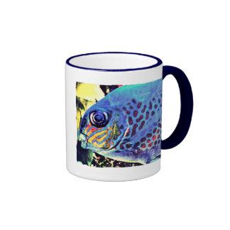 Arte de los pescados tazas de café