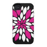 Arte de los pétalos del rosa fuerte y blanca de la vibe iPhone 4 carcasa