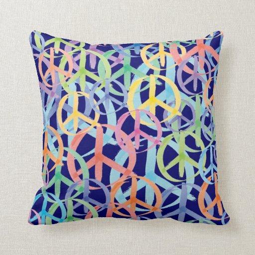 Arte de los símbolos de paz cojín