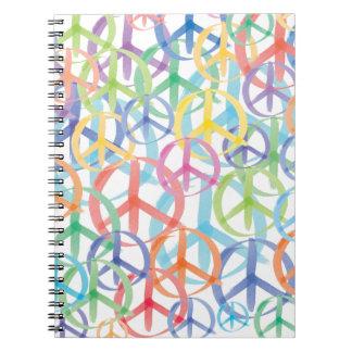 Arte de los símbolos de paz note book