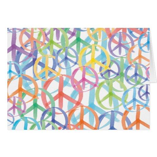 Arte de los símbolos de paz tarjeta pequeña