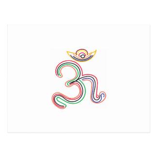 Arte de los símbolos del mantra de OM Tarjeta Postal
