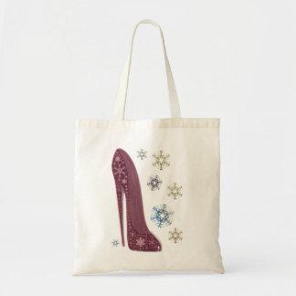 Arte de los zapatos y de los copos de nieve del es bolsa tela barata