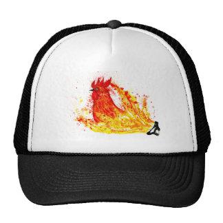 Arte de lujo 4 del gallo gorras de camionero