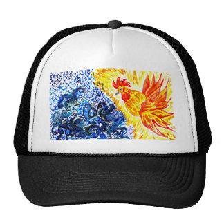 Arte de lujo del gallo gorras de camionero