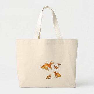 arte de lujo del goldfish de la cola de milano bolsa tela grande