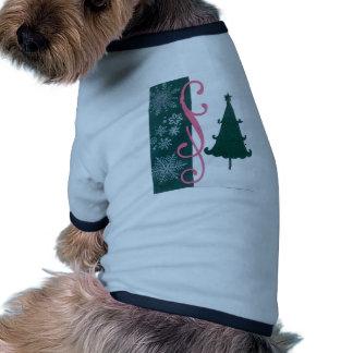 Arte de lujo del trabajo de la voluta de los copos ropa de perro