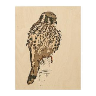 Arte de madera de la lona de la fauna del pájaro