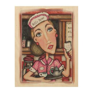 Arte de madera de la pared de la camarera cuadros de madera
