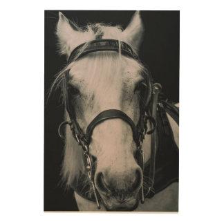 Arte de madera de la pared de la cara del caballo impresiones en madera