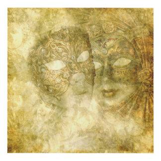 Arte de madera de la pared de las máscaras