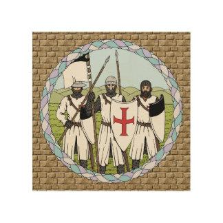 Arte de madera de la pared de Templar de los Cuadro De Madera