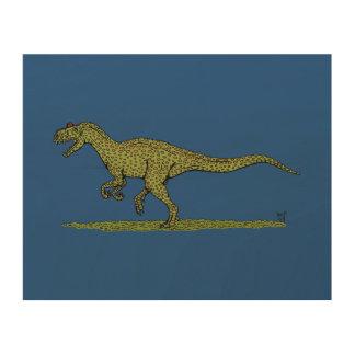 Arte de madera de la pared del Allosaurus Impresiones En Madera