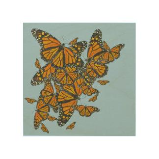 Arte de madera de la pared del monarca cuadro de madera