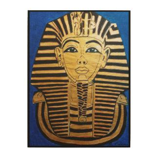 Arte de madera de la pared del Pharaoh egipcio Cuadro De Madera