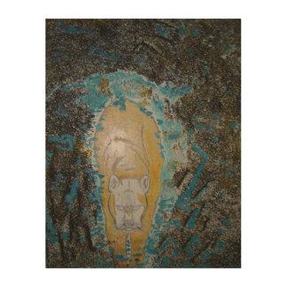 Arte de madera de la pared del puma el mirar cuadros de madera