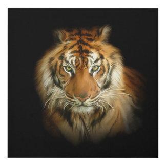 Arte de madera de la pared del tigre salvaje