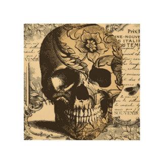 Arte de madera decorativo de la pared del cráneo cuadros de madera