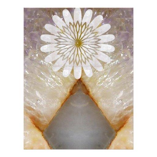 Arte de mármol cristalino del templo del vintage d membrete personalizado