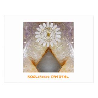 Arte de mármol cristalino del templo del vintage d tarjetas postales