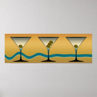 Arte de Martini del vintage Póster