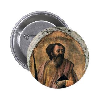 Arte de Masaccio Pin Redondo De 2 Pulgadas