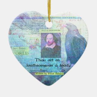 Arte de mil tan aborrecible como un sapo adorno navideño de cerámica en forma de corazón