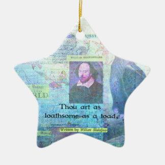 Arte de mil tan aborrecible como un sapo adorno navideño de cerámica en forma de estrella