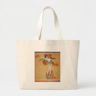 Arte de Minoan del arte del fresco de Minoan de Cr Bolsa Lienzo