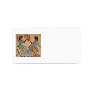Arte de Minoan del arte del fresco de Minoan de Etiquetas De Dirección