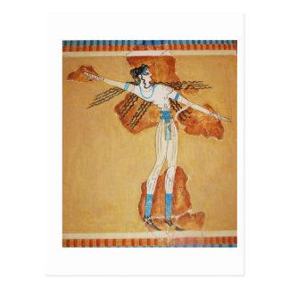 Arte de Minoan del arte del fresco de Minoan de Tarjeta Postal
