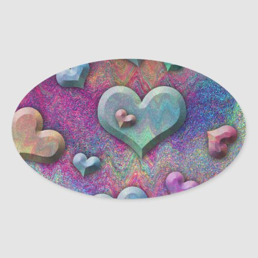 Arte de mirada metálico multicolor de los calcomanías óvales personalizadas