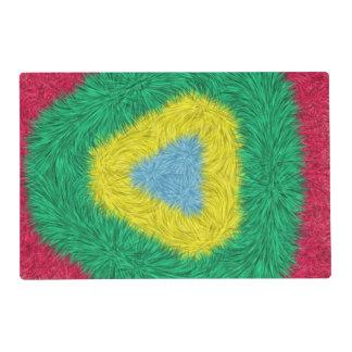 Arte de moda colorido salvamanteles