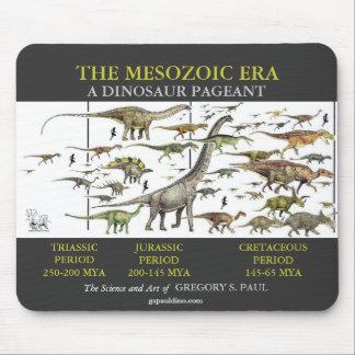 Arte de Mousepad del desfile del dinosaurio por Gr Alfombrillas De Ratón