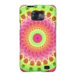 Arte de neón del Hippie del fractal Galaxy S2 Funda