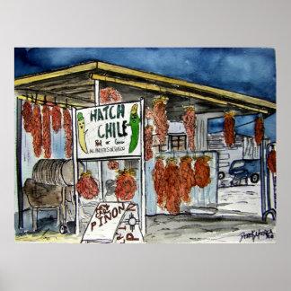 arte de New México del chile de la portilla Posters