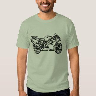 Arte de Ninja Sportbike Playeras