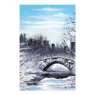 Arte de Nueva York, Central Park, paisaje Papeleria De Diseño