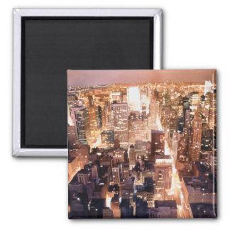 """""""Arte de Nueva York de la tapicería de Manhattan"""" Imán Para Frigorífico"""