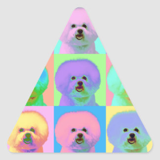 Arte de Op. Sys. - Bichon Frise - Cody Pegatina Triangular
