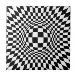 Arte de Op. Sys. blanco y negro Azulejo Cerámica
