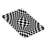 Arte de Op. Sys. blanco y negro Iman Rectangular