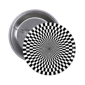 Arte de Op. Sys. - blanco y negro Pin Redondo 5 Cm