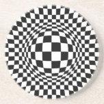 Arte de Op. Sys. blanco y negro Posavasos Manualidades