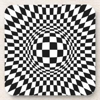 Arte de Op. Sys. blanco y negro Posavasos