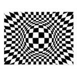 Arte de Op. Sys. blanco y negro Postales