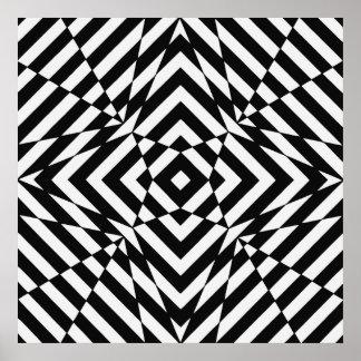 Arte de Op. Sys., cuadrado de la ilusión óptica 4 Impresiones